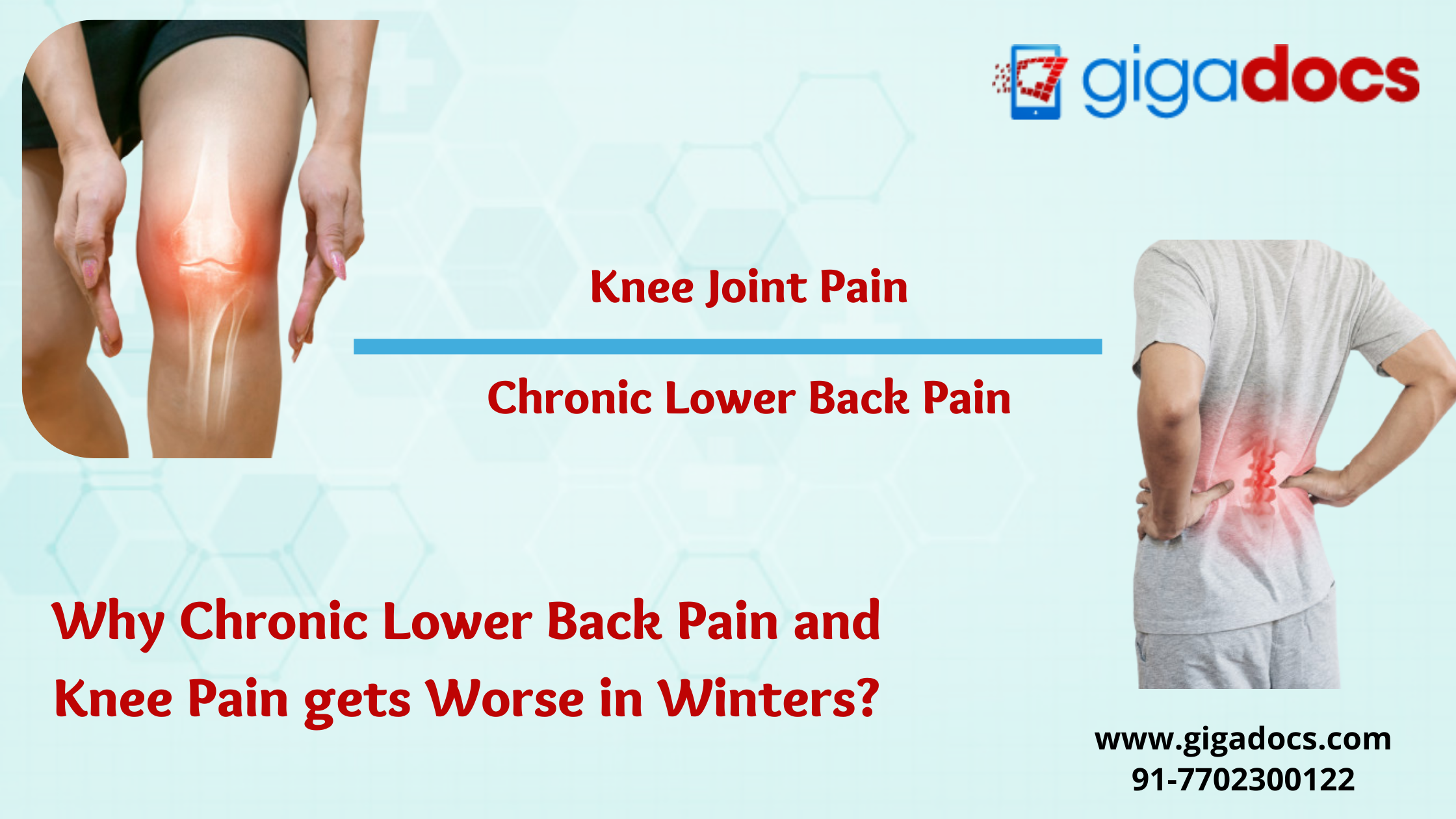 Chronic Lower Back Pain and Knee Pain