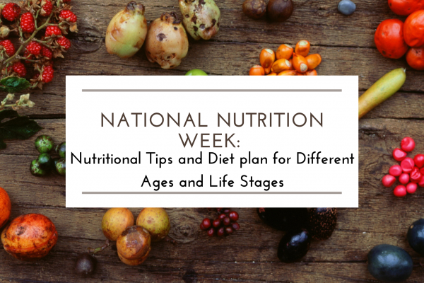 National Nutrition Week: Nutrition by Age and Life Stage and Healthy Eating Tips